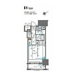 ZOOM横浜桜木町(ズームヨコハマサクラギチョウ) 2階1Kの間取り