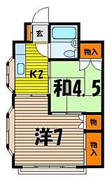 富士見マンション[301号室]の間取り