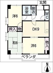 グランドール新栄[8階]の間取り
