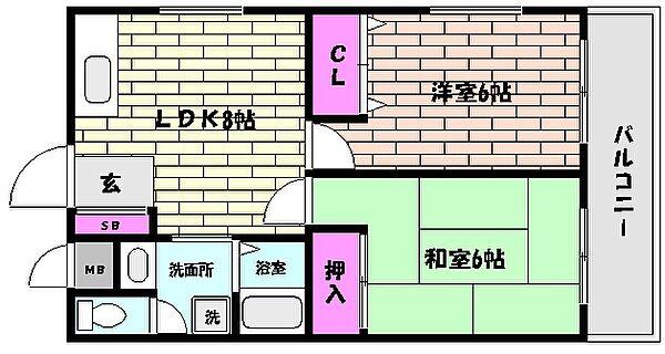 INK甲南[3階]の間取り