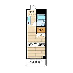 新北野プラザ[206号室]の間取り