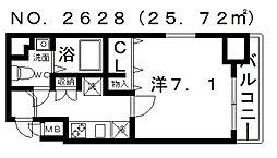 ポルト・ボヌール四天王寺夕陽ヶ丘ミラージュ[13階]の間取り
