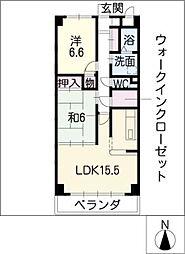 ベルクルール杉本II[4階]の間取り