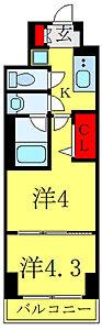 間取り,2K,面積25.81m2,賃料9.0万円,都営三田線 西巣鴨駅 徒歩7分,JR埼京線 板橋駅 徒歩11分,東京都北区滝野川7丁目45-16
