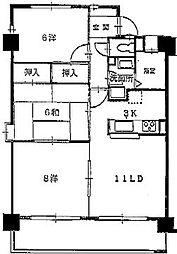 ダ・カーポ祇園[603号室]の間取り