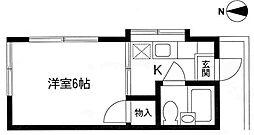 メゾンフジ11階Fの間取り画像