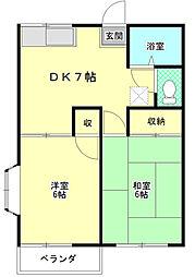 コーポハイマート[2階]の間取り
