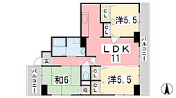 兵庫県姫路市広畑区小坂の賃貸マンションの間取り