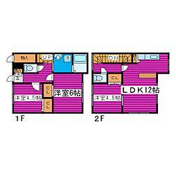 [テラスハウス] 北海道札幌市北区篠路二条5丁目 の賃貸【北海道 / 札幌市北区】の間取り
