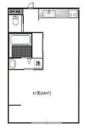 太陽の森マンションPart101[1階]の間取り