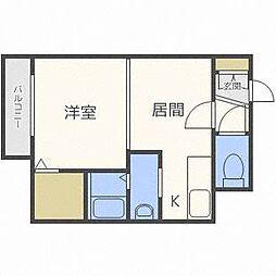 エクセレントハウス豊平37[3階]の間取り