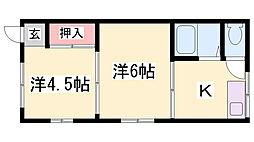 大谷町アパート[2階]の間取り