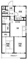 神奈川県横浜市戸塚区前田町の賃貸マンションの間取り
