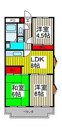 エステートK[3階]の間取り