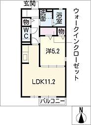 プライムガーデンB[1階]の間取り