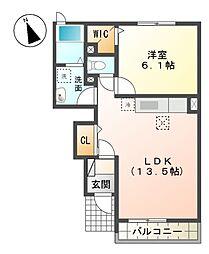 コンフォ−ト長谷川園[1階]の間取り