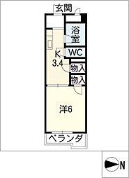 ラフォーレ富士[4階]の間取り