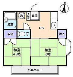 フラワーコーポ薬円台II[2階]の間取り