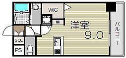 大阪府大阪市北区大淀中3丁目の賃貸マンションの間取り