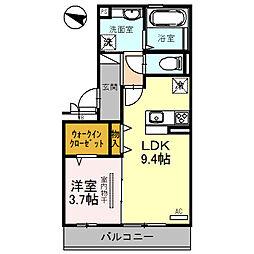 大阪モノレール本線 万博記念公園駅 徒歩9分の賃貸アパート 3階1LDKの間取り