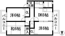 リーブラ東多田2[2階]の間取り