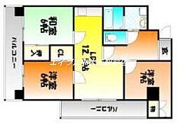 厚生町クラウンズマンション[2階]の間取り