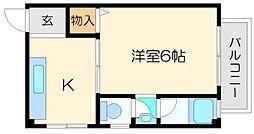 岡本マンション[2階]の間取り