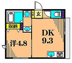 Maison F 1階1DKの間取り
