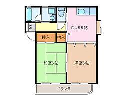 マンション和[1階]の間取り