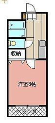 ボヌール相島[102号室]の間取り
