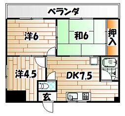 ヒロビルディング[4階]の間取り
