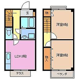 [テラスハウス] 三重県鈴鹿市東旭が丘3丁目 の賃貸【/】の間取り