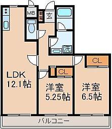 マンションプレール[3階]の間取り