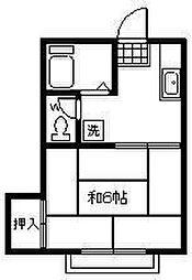 メゾン福生[103号室]の間取り