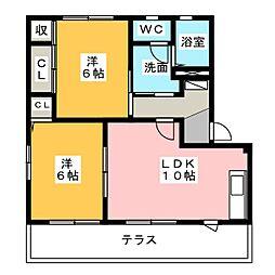 ヴィブレA・B[1階]の間取り