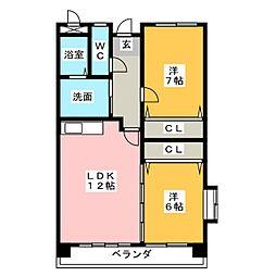 メゾンシンテル[4階]の間取り