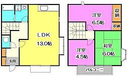 [テラスハウス] 東京都練馬区石神井台6丁目 の賃貸【/】の間取り