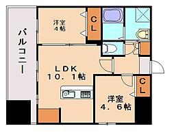 ランドマーク和白[2階]の間取り