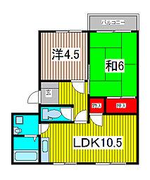 コーポ澤田B棟[2階]の間取り