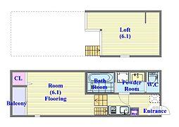 SKHコーポ[1階]の間取り