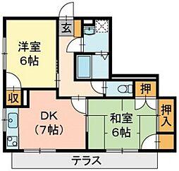 ガーデンハウス伊島町[1階]の間取り