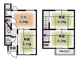 [一戸建] 大阪府守口市金田町3丁目 の賃貸【大阪府 / 守口市】の間取り