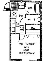 ヨコハマハイツ[1階]の間取り
