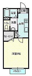 プロムナード並木[101号室号室]の間取り