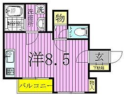 メゾンケイ[1階]の間取り