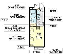 千葉県八千代市ゆりのき台2丁目の賃貸アパートの間取り