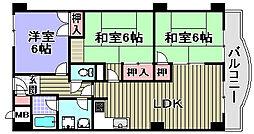 フィアテル岸和田[502号室]の間取り
