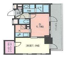 ドゥーエ幡ヶ谷[1608号室]の間取り