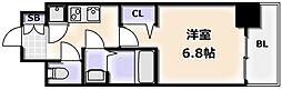 Osaka Metro御堂筋線 大国町駅 徒歩3分の賃貸マンション 12階1Kの間取り
