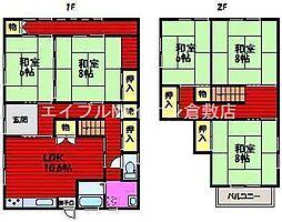 [一戸建] 岡山県倉敷市中庄丁目なし の賃貸【/】の間取り